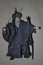 LORD RINGS LOTR GANDALF THE GREY TRILOGY W/ BLUE LIGHT UP STAFF 100% HOBBIT RARE