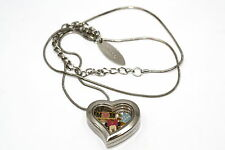 DISNEY HEART LOCKET SILVER NECKLACE FLOATING MOTHERS DAY MINNIE MOUSE CHARM