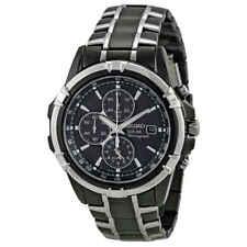 Seiko SSC143 Solar Men's Quartz Watch Black Dial 44 Mm NWD