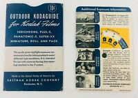 Vintage Kodak Camera Film Kodaguide Outdoor Daylight Exposure Wheel
