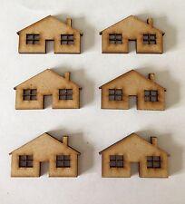 10 x Bois Craft en forme de bungalows