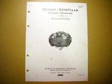 Bendix Scintilla  DLN-5 Magneto Parts Tech Data Booklet