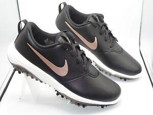Nike Roshe G Tour Waterproof Golf shoes women's 9.5 AR5582-001 Black/Gold Check