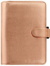 Filofax Rose Gold Saffiano Metallic A5 Desk 6 Ring Organiser Diary 022572