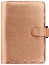 Filofax Rose Gold Saffiano Metallic A5 Desk 6 Ring Organiser Diary 022572
