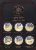 Sands of Gallipoli 2005 Set of Six Limited Edition Medallions Featuring the VC