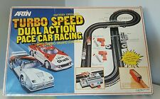 Vintage Artin Turbo Speed Dual Action Pace Car Racing Racetrack Scalextric