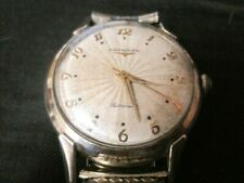 1956 longines automatic wrist watch 10k gold filled, sweep second ,works great