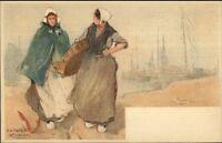 Holland Native Dutch People H. Cassiers c1900 Postcard KATWYK