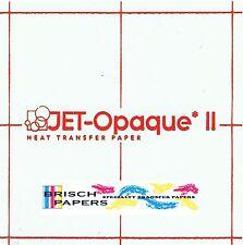 "INKJET TRANSFER PAPER FOR DARK FABRIC: NEENAH ""JET OPAQUE II"" (8.5""X11"") 50 CT"