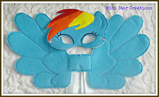 Handmade Mask and Large Wings Set - Rainbow Dash - My Little Pony