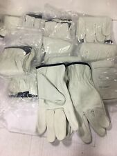 Leather Driver Work Gloves ( 12 pairs) Size XL