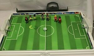 PLAYMOBIL Football Carry Case Pitch Players Nets Ball Etc Spares/Extra's #S1