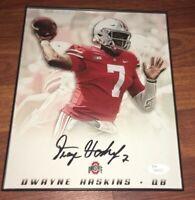 Ohio State Buckeyes DWAYNE HASKINS Autograph Photo Framed w/ JSA COA & Hologram