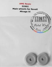 AMS Resin 1/32 Mirage III Wheels for Revell kit