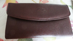 """Buxton dark red leather wallet  soft nappa leather 7 """" x 4"""""""