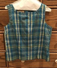 TELLURIDE CLOTHING Women's SILK Back Zip Sleeveless Blouse ~ Size 10 ~ Exc Cond!