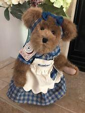 "Boyds Bears Muffin B Bluebeary #94693Yc 14"" Plush�Yankee🕯Excl Blue Plaid Nwt"