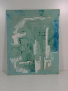 Mid Century Cubist Artist Watercolor Signed B.W Slates? 56
