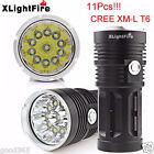 XLightFire 28000LM 11x CREE XM-L T6 LED Caza Linterna 4 x 18650 linterna