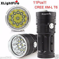 XLightFire 28000LM 11x CREE XM-L T6 LED Hunting Flashlight 4 x 18650 Lamp Torch
