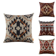 Vintage Ethnic Cushion Cover 18 x 18 inches Chair Pillow Case Geometric Pattern