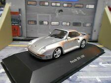 PORSCHE 959 Gr.B 4x4 Coupe 911 Street silber 1986 SP Atlas by Spark 1:43