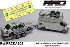 DECAL/CALCA 1/43; Asistencia Mercedes Benz; Rally Valeo 1991