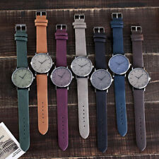 Women's Casual Stainless Steel Case Leather Band Quartz Analog Wrist Watch
