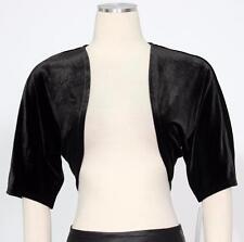 CONNECTED Black Sz M Women's Evening Poly Velvet Shrug Jacket $39 New