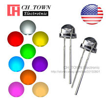 9 Lights 900pcs 5mm LED Diodes Straw Hat White Red Green Blue Yellow Mix Kits