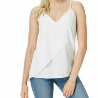 $49 NWT Bar III Women's Asymmetrical Tank Top White XS