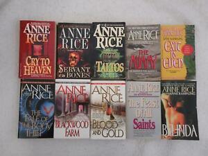 Lot of 10 Anne Rice Mass Market Paperbacks Vampire, Erotic, Horror