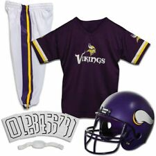 Minnesota Vikings Uniform Set Youth NFL Football Jersey Helmet Kid Costume Small