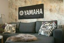 Yamaha wall banner flag for garage, man cave etc 4x2', 60x120 cm
