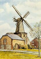 Art Postcard West Blatchington Windmill, Hove, East Sussex by Peter Toseland 67Q