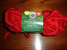 Loops & Threads Fabulous sparkle ruffle yarn NEW 1.76 oz 1 ball/skein red