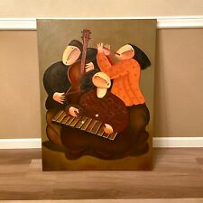 """Jaymiki """"Musicians"""" Oil Painting On Canvas Art Reproduction 30""""x40"""""""
