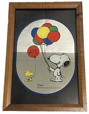 "Vintage Snoopy ""Love Balloons"" Mirror Framed 30216"