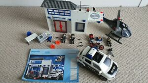 PLAYMOBIL 9372 Police station with police car; helicopter and bike