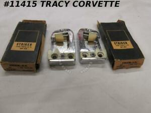1953-1968 GM Passenger Car Striker Plates Front/Rear 4664863 4664864 2 Pc Set