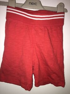 Boys Age 18-24 Months - Next Red Jersey Shorts
