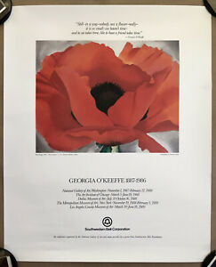 Georgia O'Keeffe Limited Edition Museum Poster Lithograph Southwestern 19.5x24