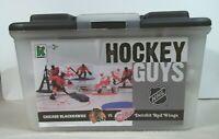 Kaskey Kids NHL Hockey Guys Action Figure Blackhawks Red Wings Complete No Rink