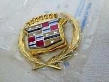 New GM 1989 - 1993 Cadillac Deville Fleetwood GOLD trunk lock cover emblem NOS