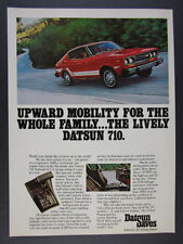 1976 Datsun 710 Hardtop Coupe red car photo vintage print Ad
