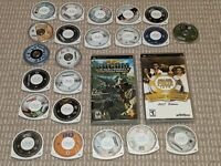 *LOT OF 24 PSP GAMES* Sony Playstation Portable Video Game Collection!
