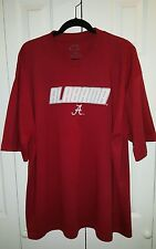 Embroidered University of Alabama Red T-shirt Size XXL