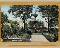 Vintage Postcard-Sussex-Brighton-Old Steyne/Steine Gardens & Fountain