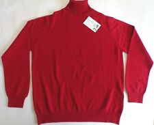 """Glen Oak Roll Neck 2 ply pure cashmere pullover sweater pullover top 42"""" Red"""